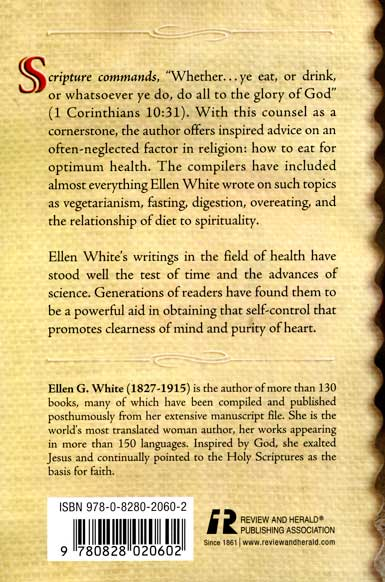 Counsels on Diet Back Cover
