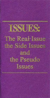 Issues 1: The Real Issues, the Side Issues, and the Pseudo Issues
