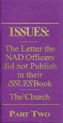 Issues 2, The Letter the NAD Offices did not publish in their Issues book