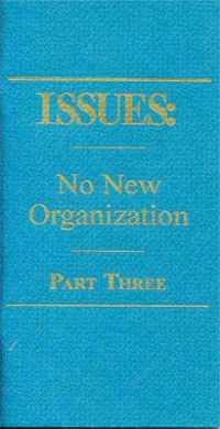 issues 3 no new organization