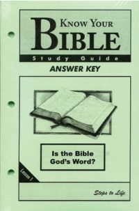 Know Your Bible Study Guides Answer Key