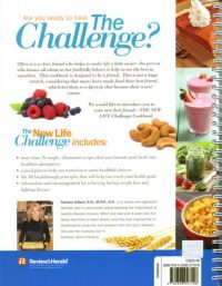 The New Life Challenge cookbook backcover