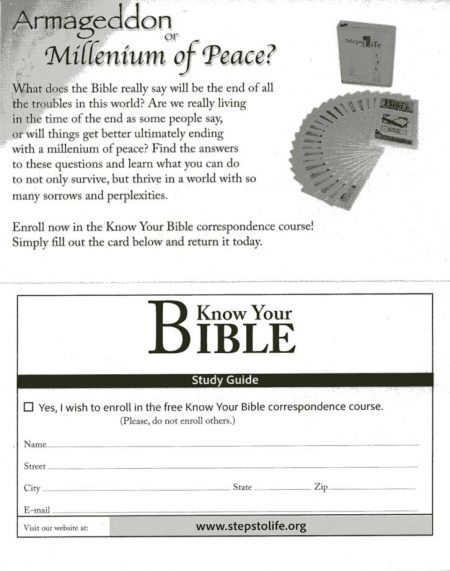 Know your Bible Study Card Back