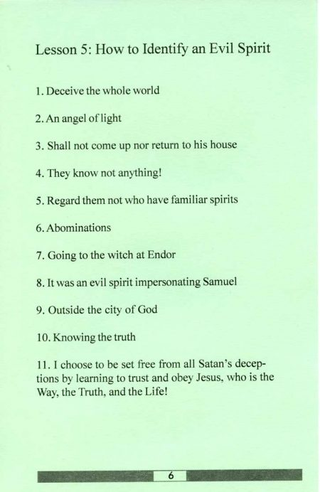 Prophecy Series sample answer key