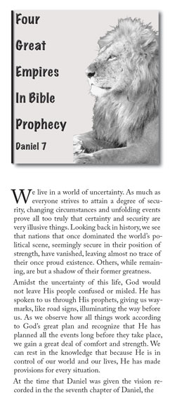 Four Great Empires in Bible Prophecy - Daniel 7
