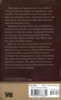 Foxe's Book of Martyrs backcover