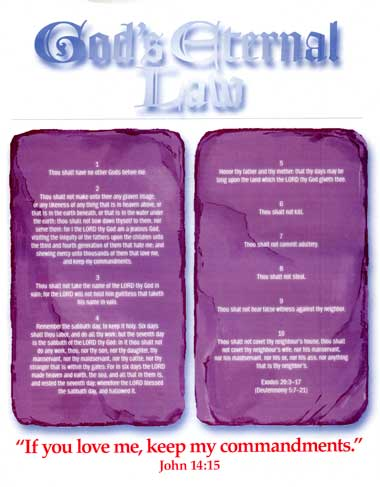 God's Eternal Law tract