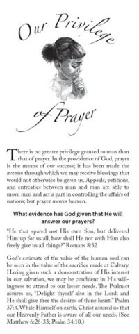 Our Privilege of Prayer