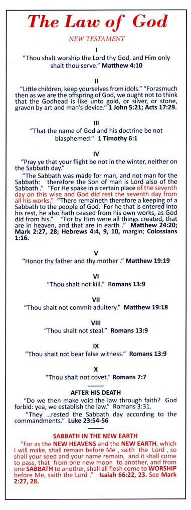 The Law of God - tract