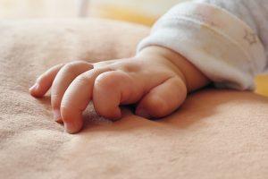 new baby hand