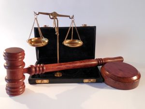 court gavel and scales