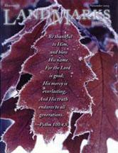 LandMarks cover November 2003