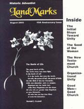 LandMarks August 2003 cover